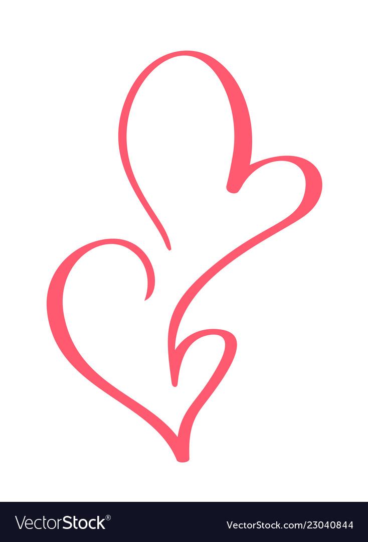 Valentines day hand drawn calligraphic