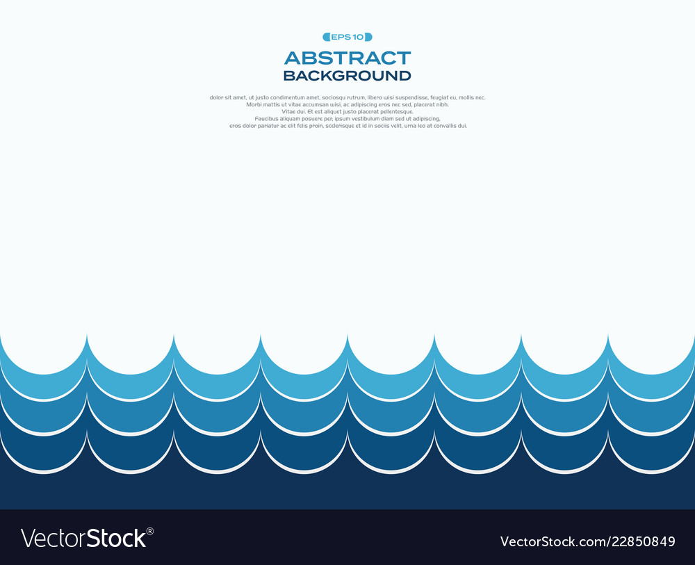 Abstract of blue water wave pattern background