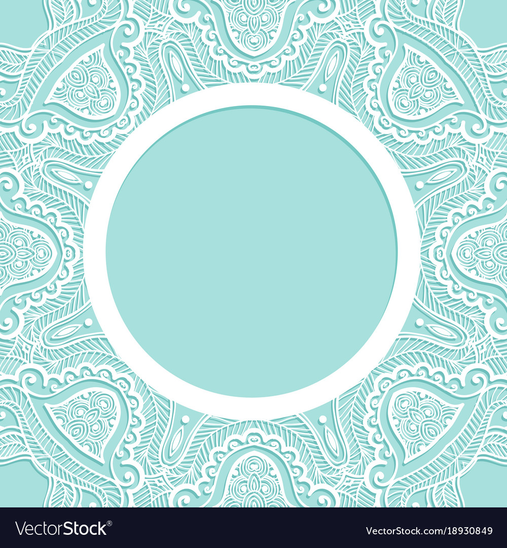 Background with lace pattern ornament frame