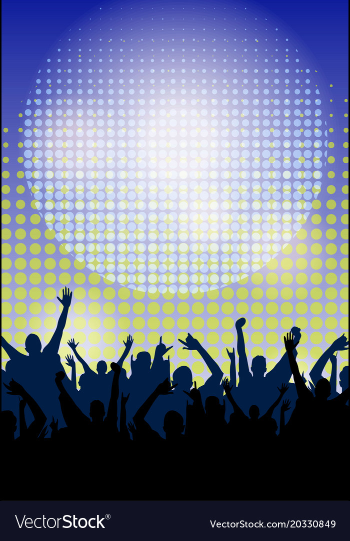 Dance party night poster background template