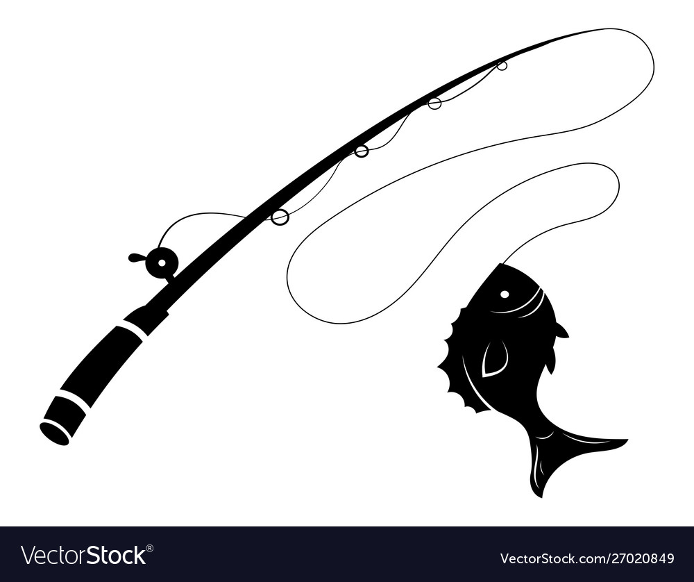 Fishing logo black and white a