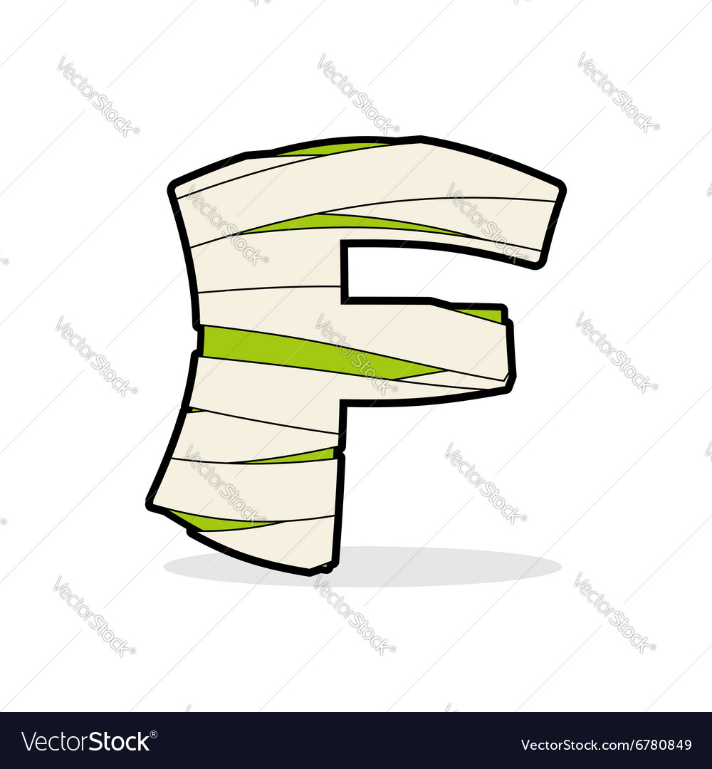 Letter F Egyptian zombies ABC sign coiled medical