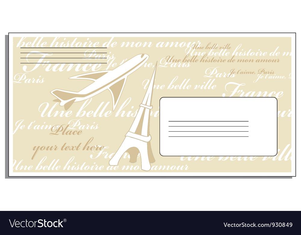Letter to Paris vector image