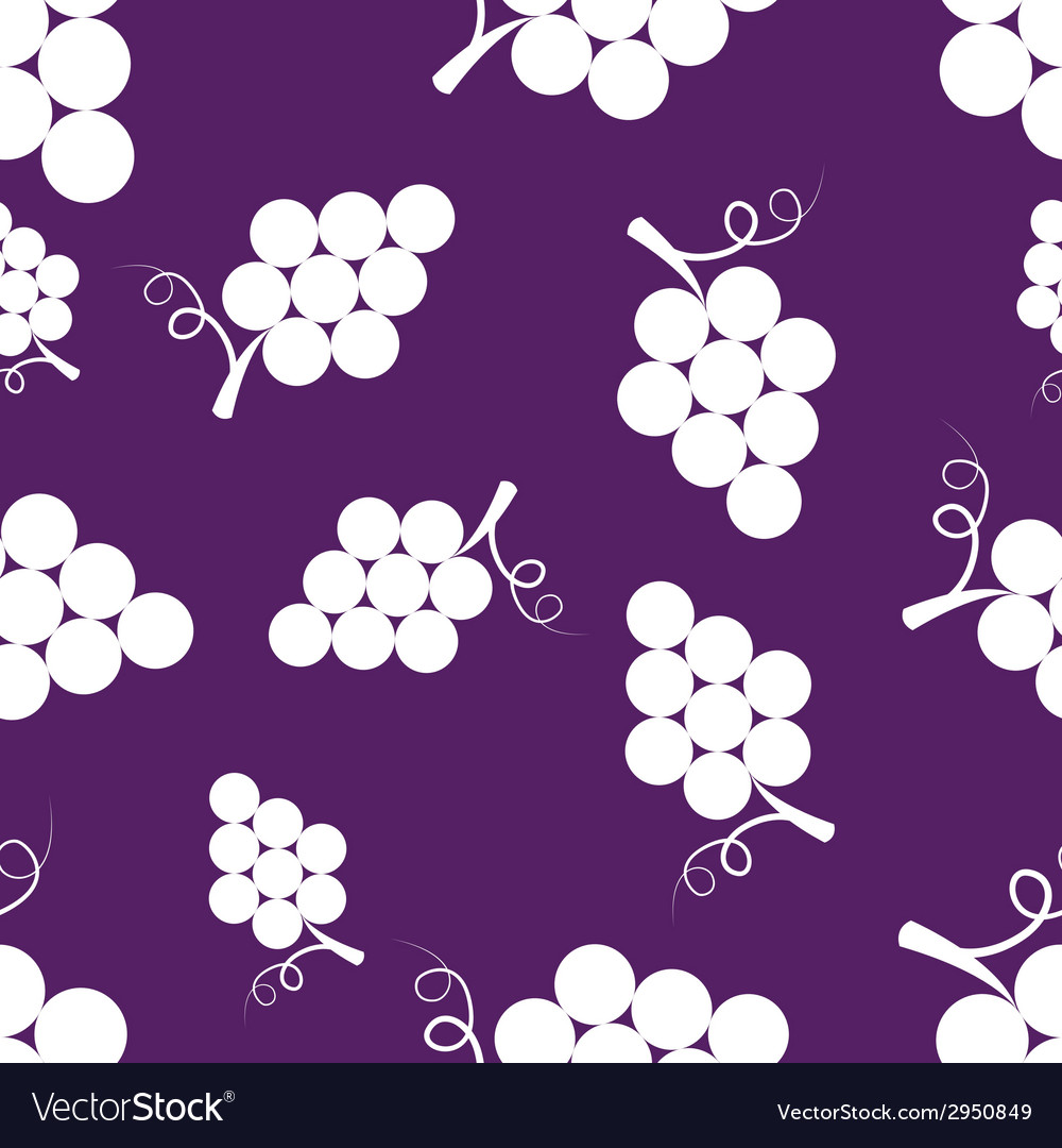 Pattern Silhouette Grapes