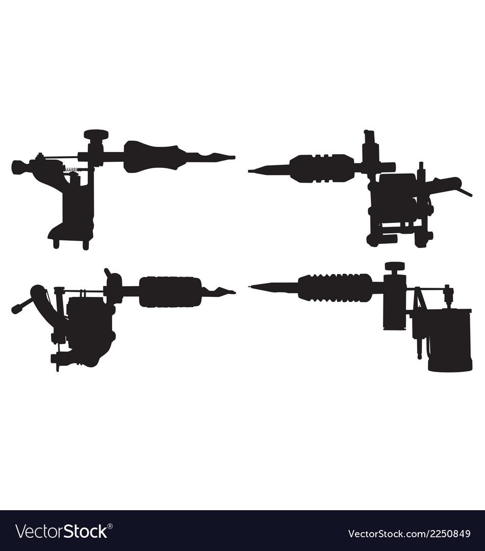Tattoo guns vector image