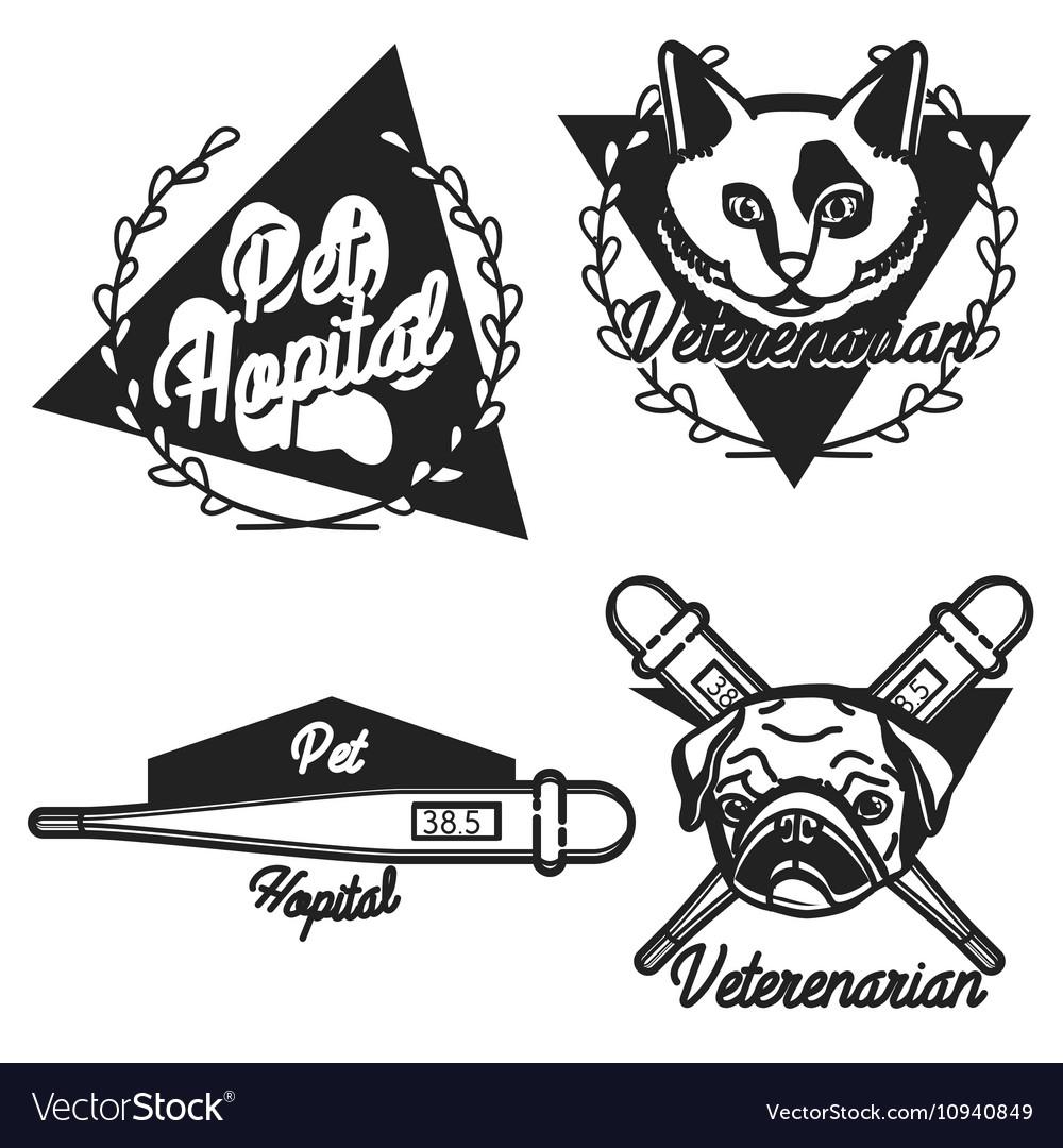 Vintage veterinarian emblems
