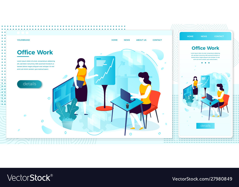 Women with notebook working in office