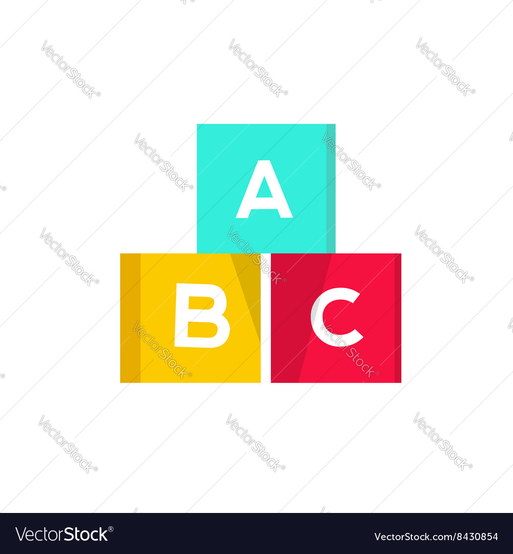 ABC cubes blocks with