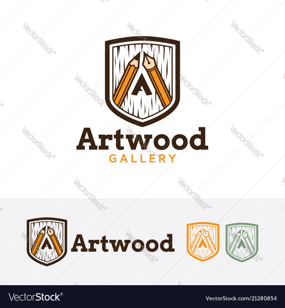 Art wood logo design