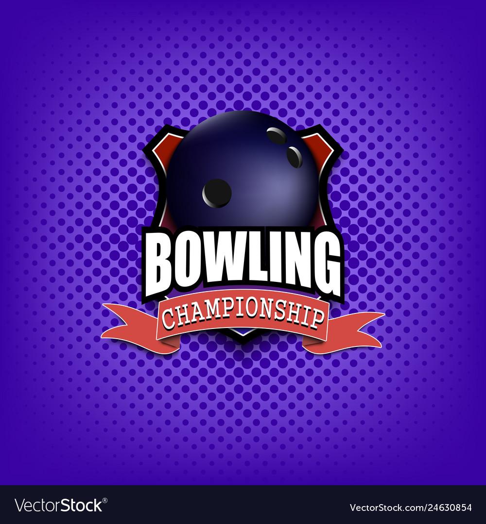 Bowling logo template design