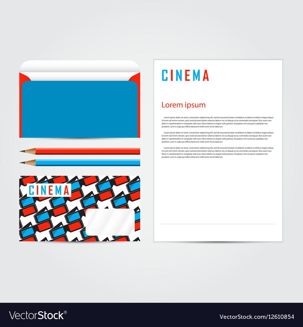 Cinema 3d corporate identity template set