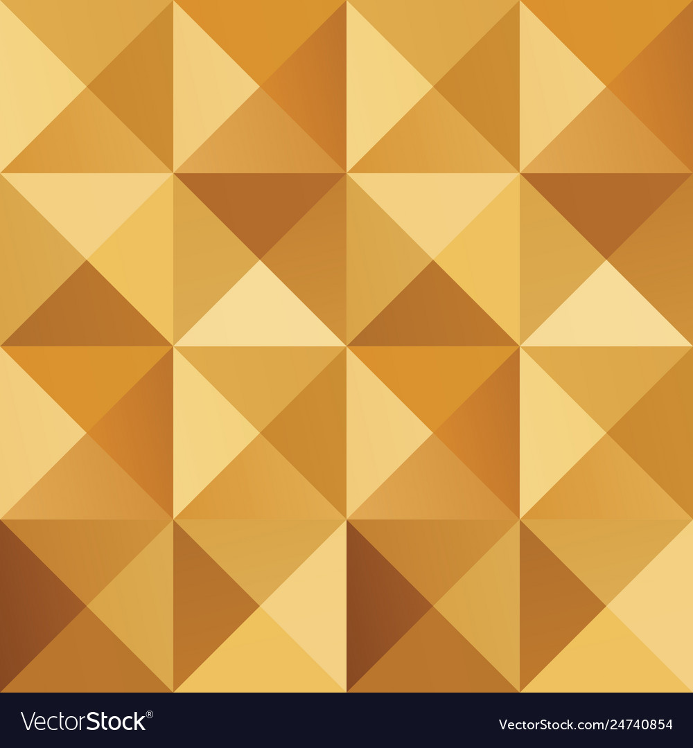 Geometric simple golden colored seamless pattern