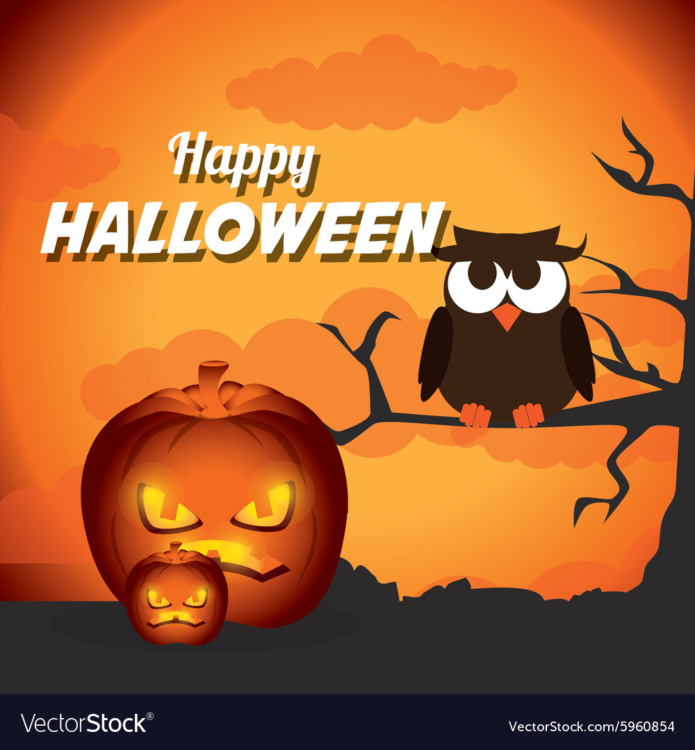 Happy halloween festival party design