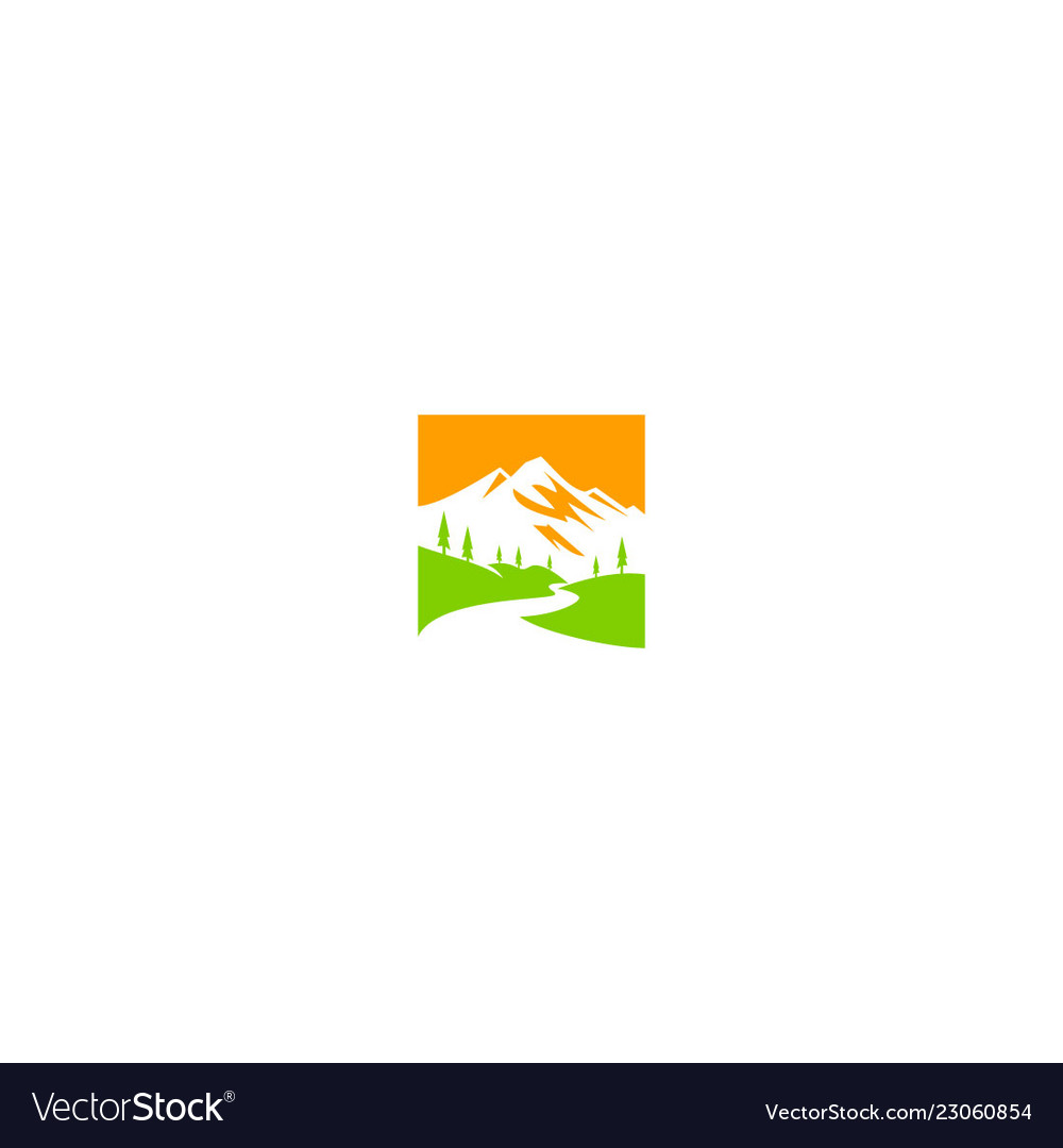 Mountain landscape nature ecology logo