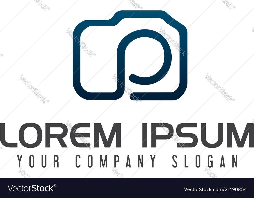 Photograpy letter p logo design concept template