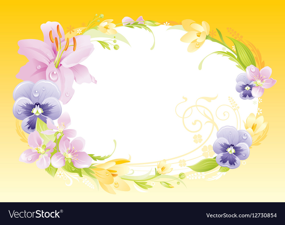 Spring yellow background Easter Mothers day