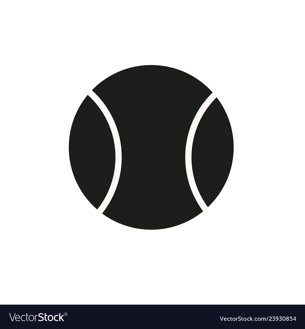 Tennis ball icon in trendy flat style isolated on