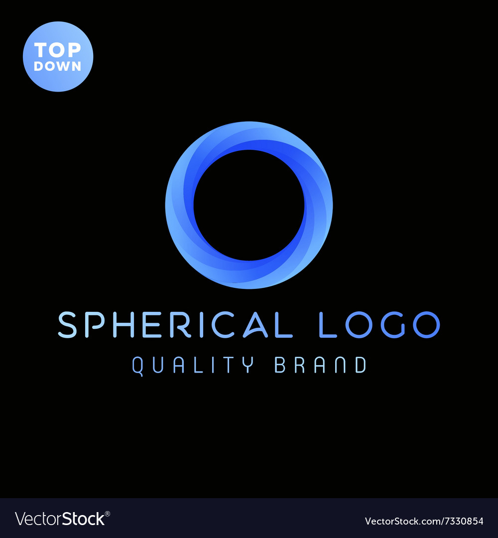 The spherical ring gradients logo