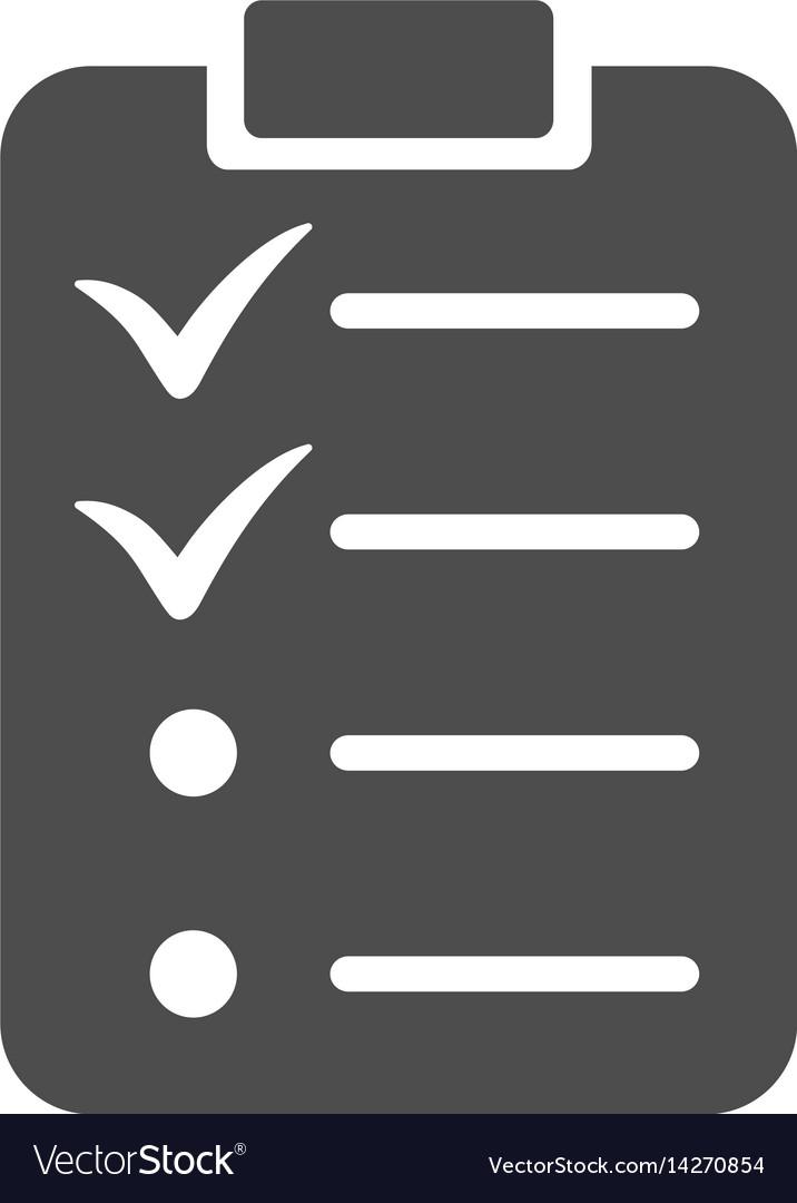 Todo list icon vector image