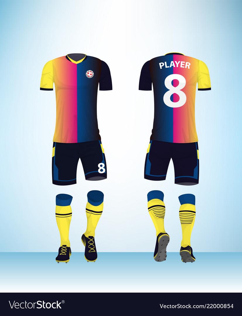Uniform football design color template