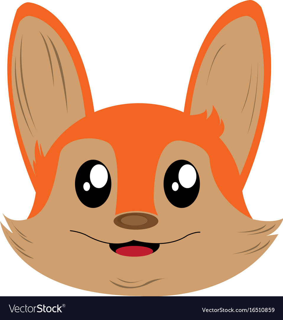 Avatar of fox vector image