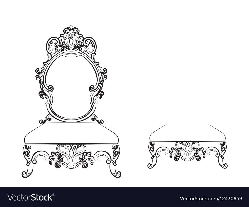 Baroque luxurious style furniture