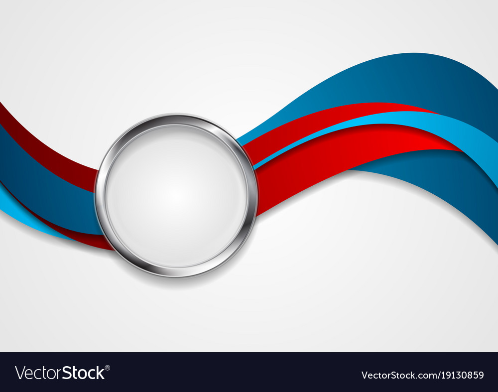 Blue Red Wavy Corporate Abstract Background