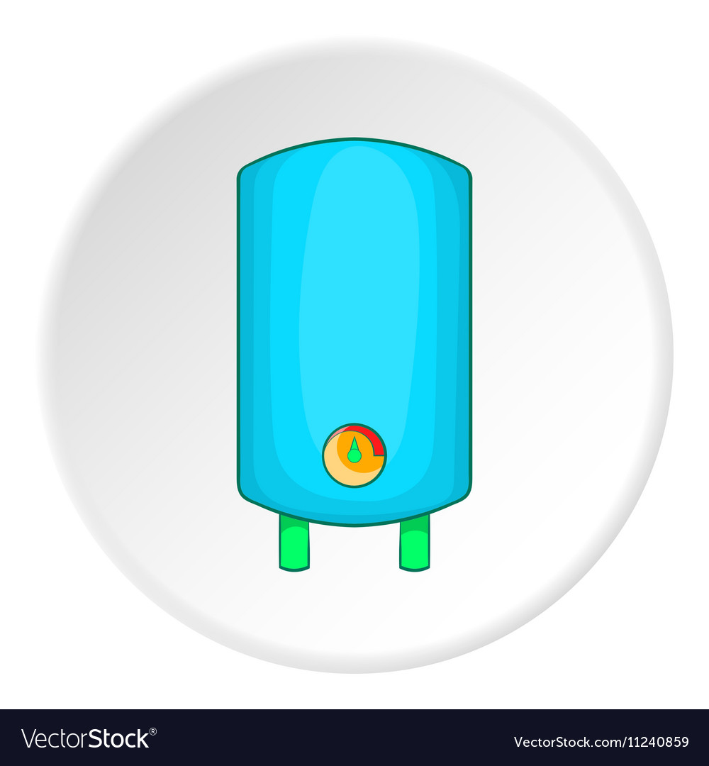 Boiler or water heater icon cartoon style Vector Image