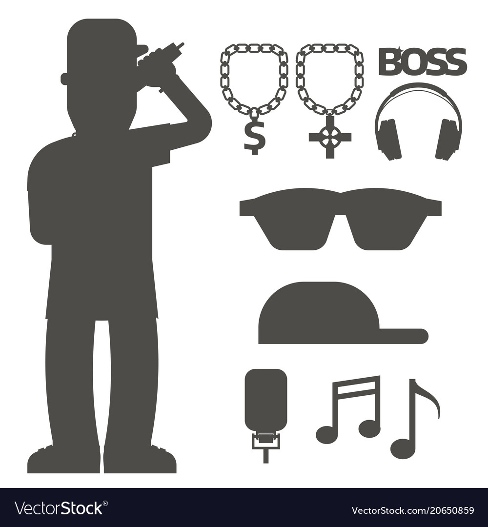 Hip hop man accessory musician accessories