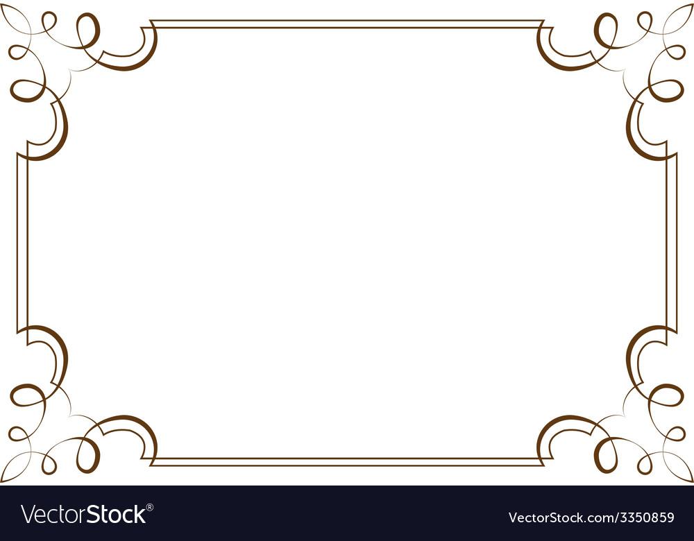 Horizontal frame Element for design Royalty Free Vector