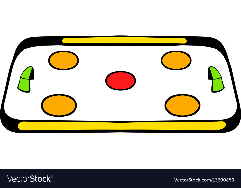 Ice hockey rink icon icon cartoon vector image