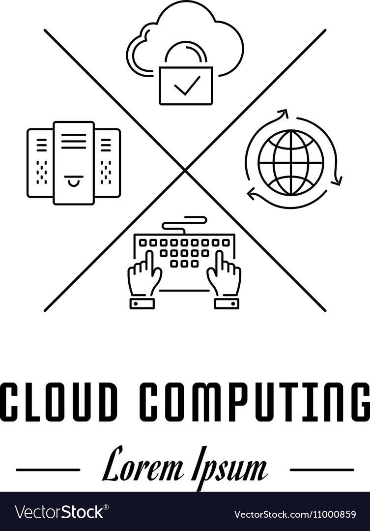 Line Banner Cloud Computing