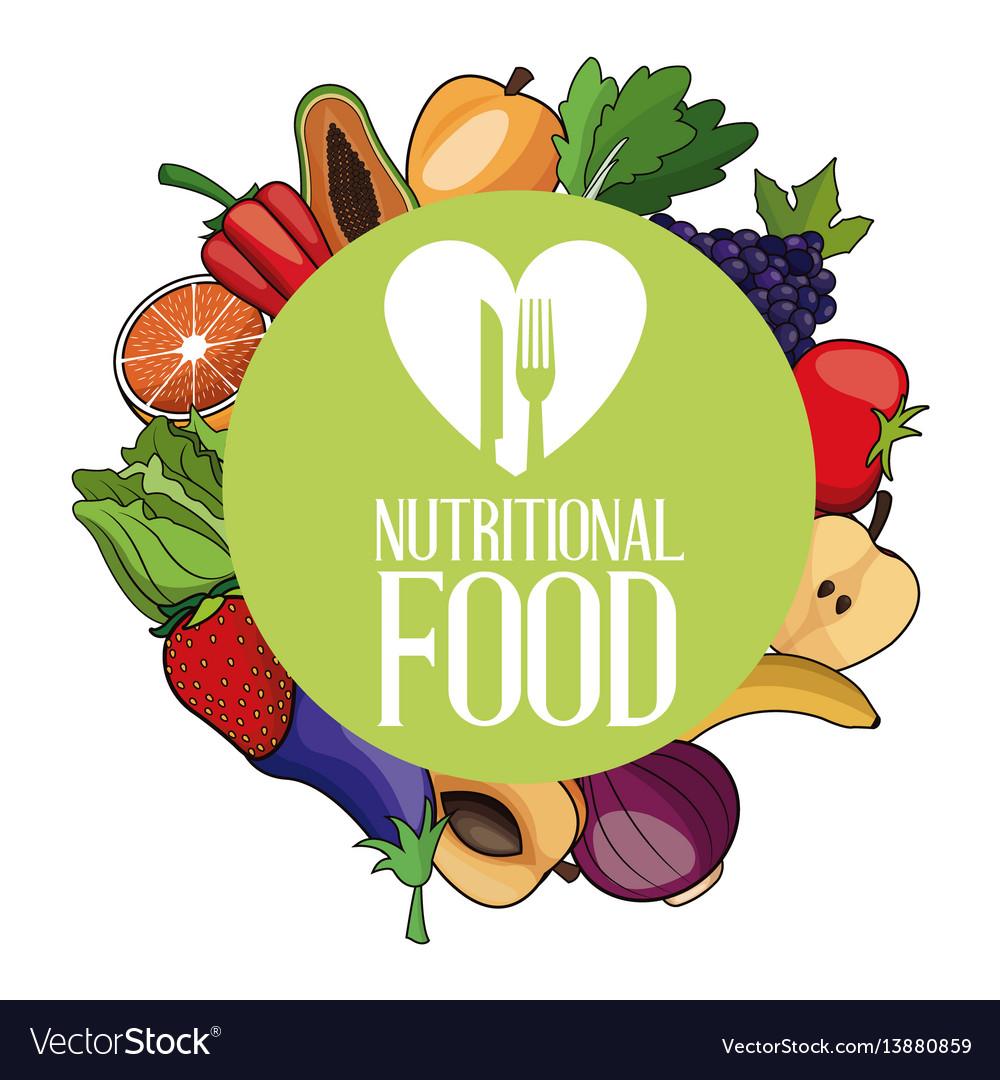 Nutritional food ingredients organic poster