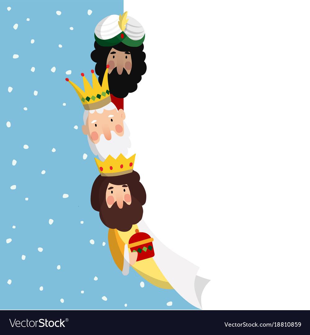 Three magi biblical kings caspar melchior and
