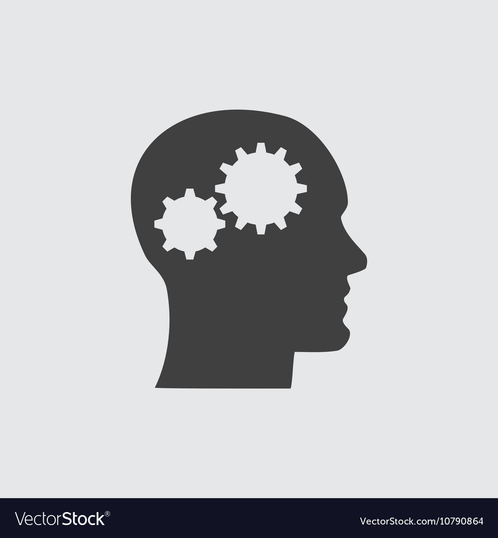 Head and gear icon