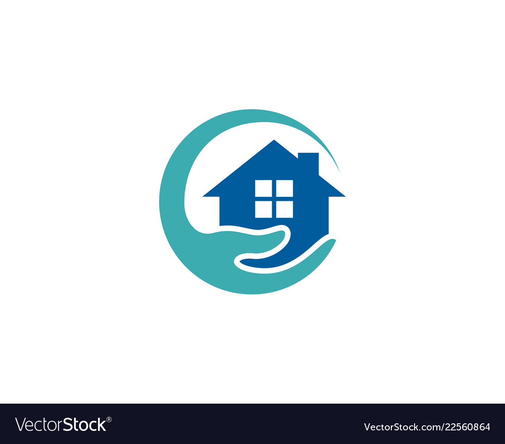 Home Care Logo Icon Design Royalty Free Vector Image