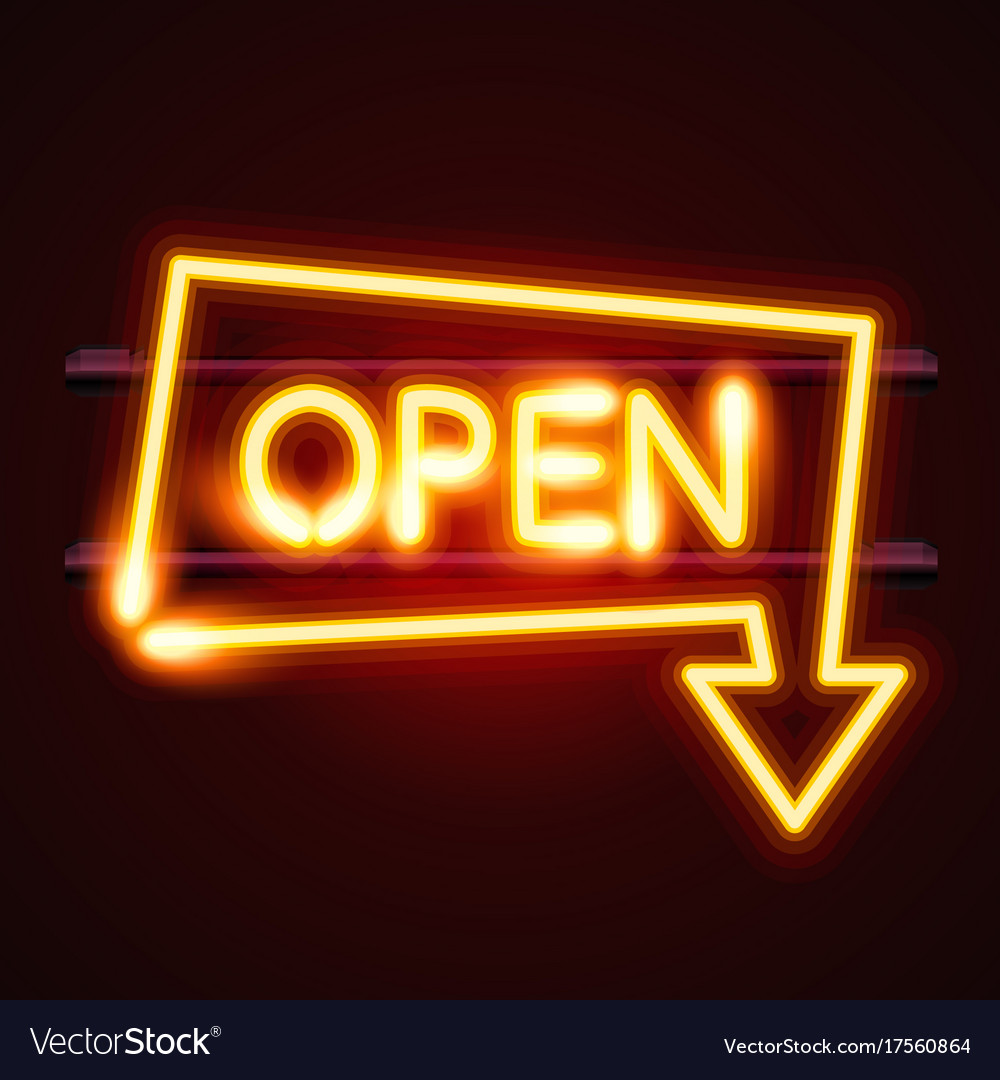Open Sign With Arrow