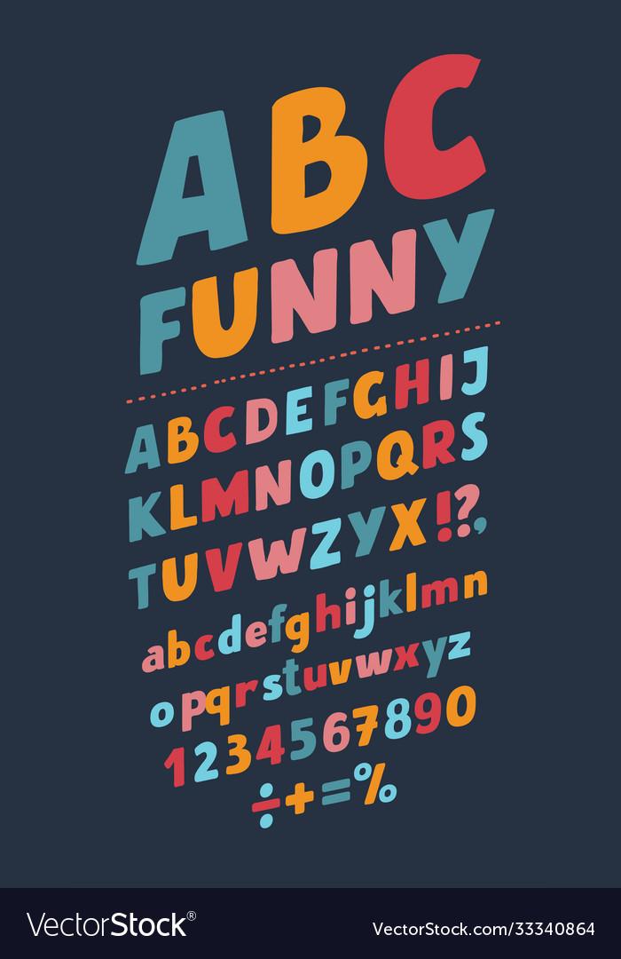 Slanted style vintage 3d sans serif font rounded