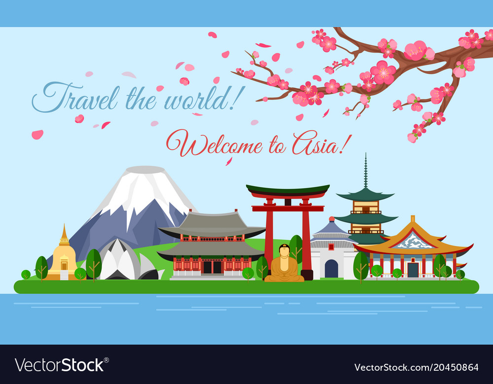 Travel concept of asia