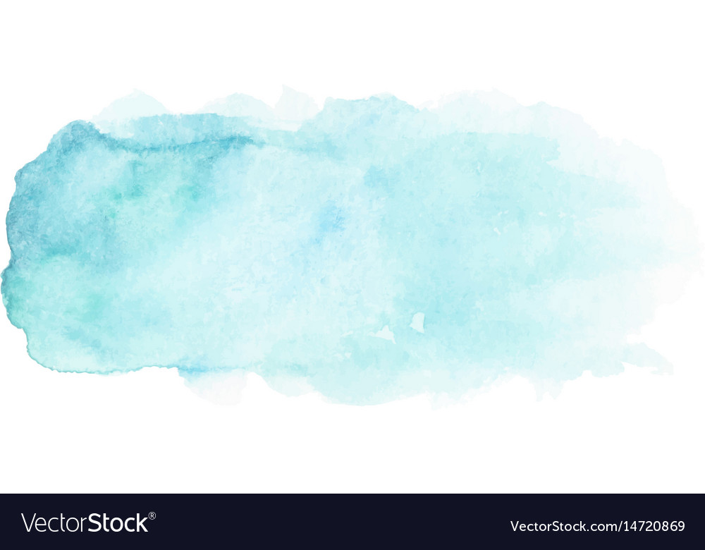 Abstract blue watercolor stain