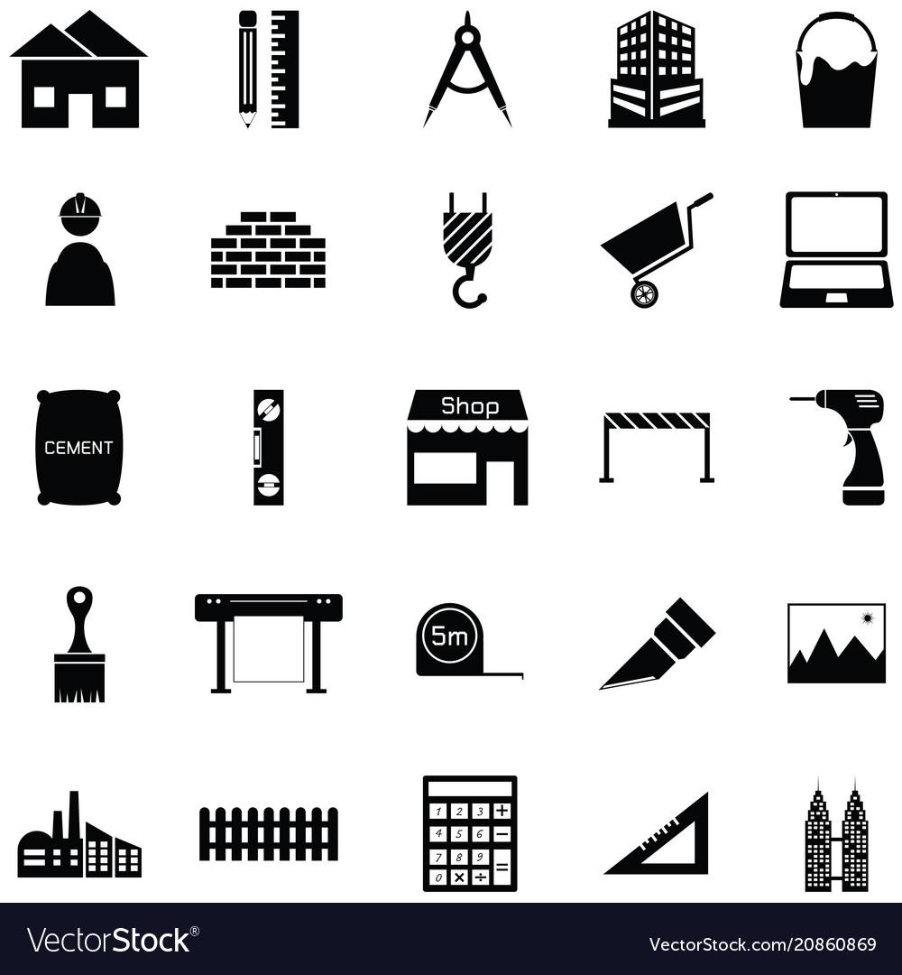 Architecture icon set