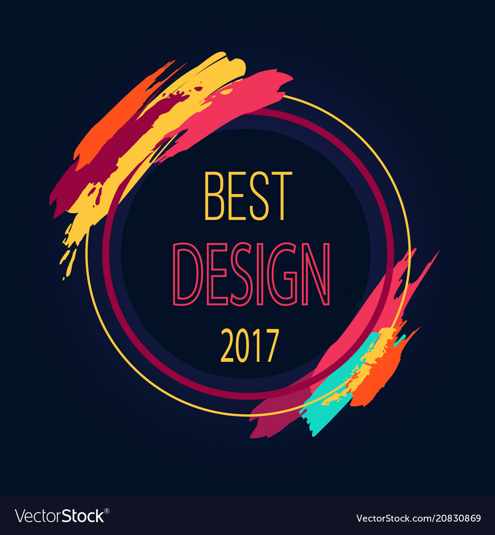 Best design 2017 round frame border art brush