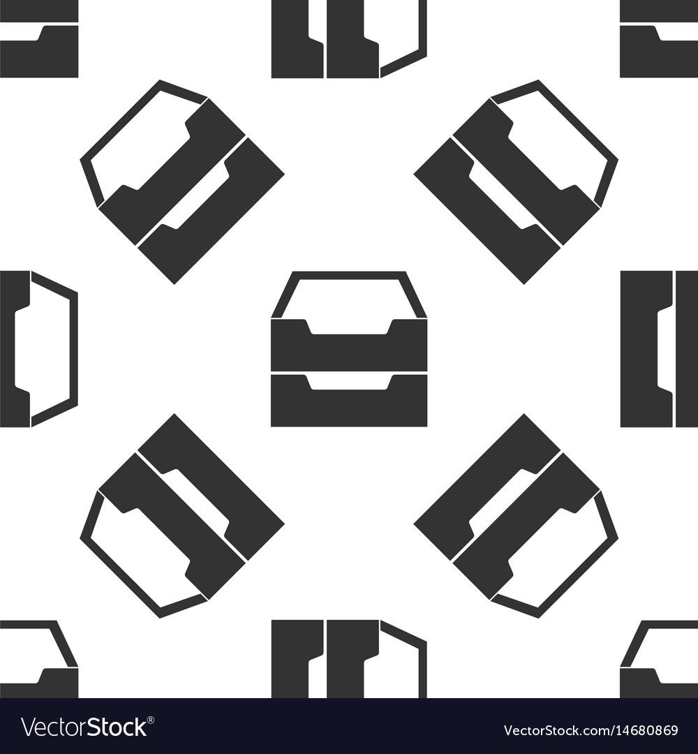Document inbox icon seamless pattern on white