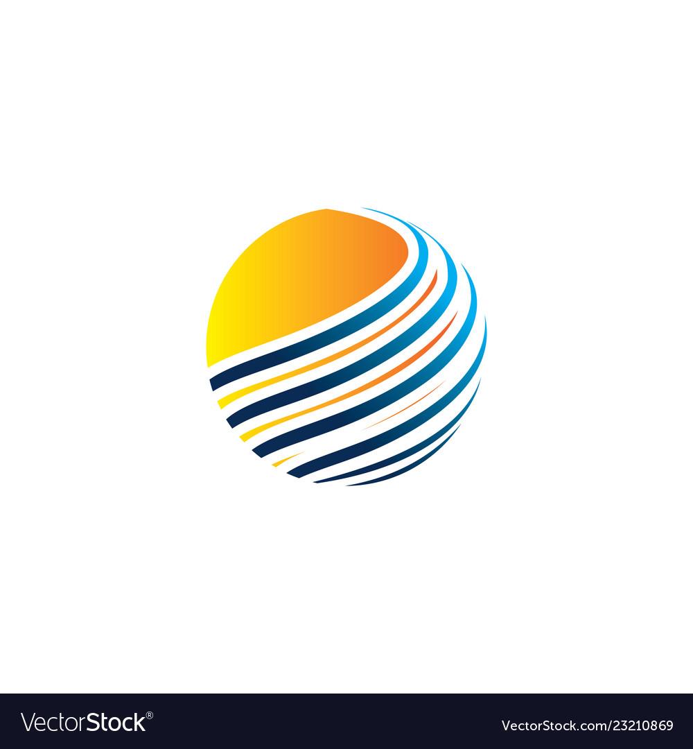 Globe logo abstract