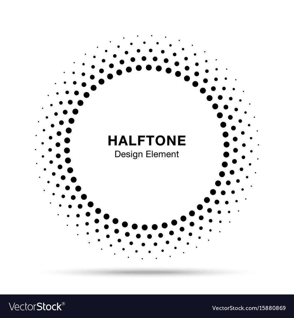 Halftone circle frame dots logo emblem