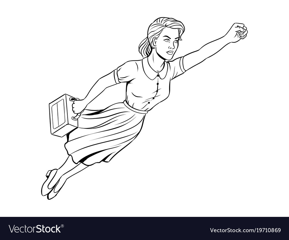 Mother super hero coloring book Royalty Free Vector Image