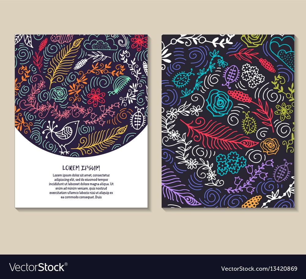 Set of design templates vintage frames and