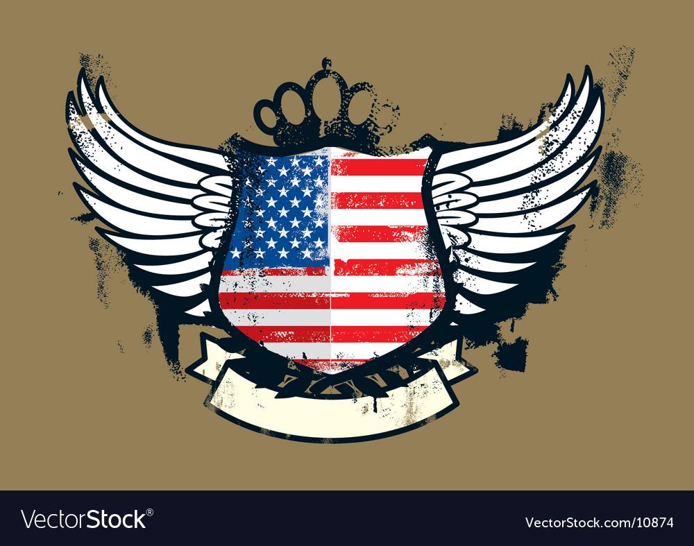 American grunge emblem vector image