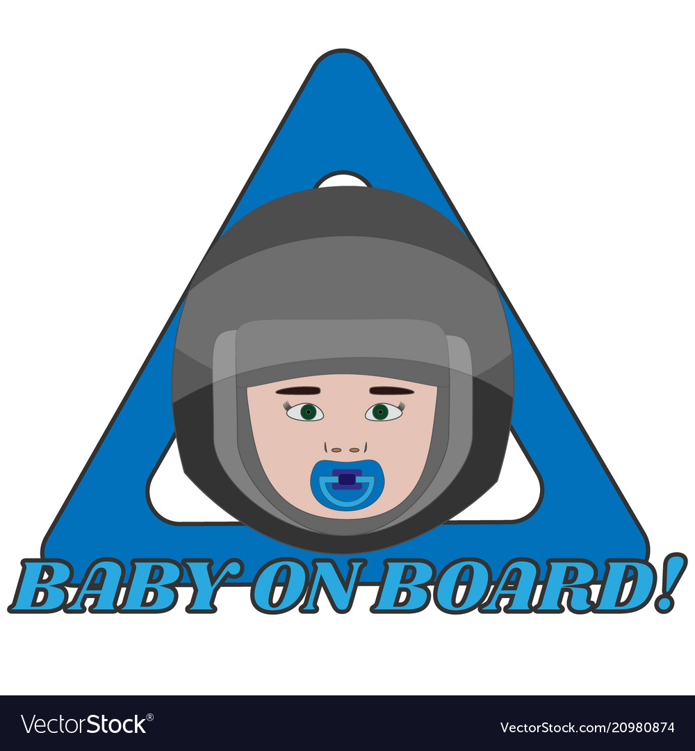 Baby on board triangle warning sign for vehicle