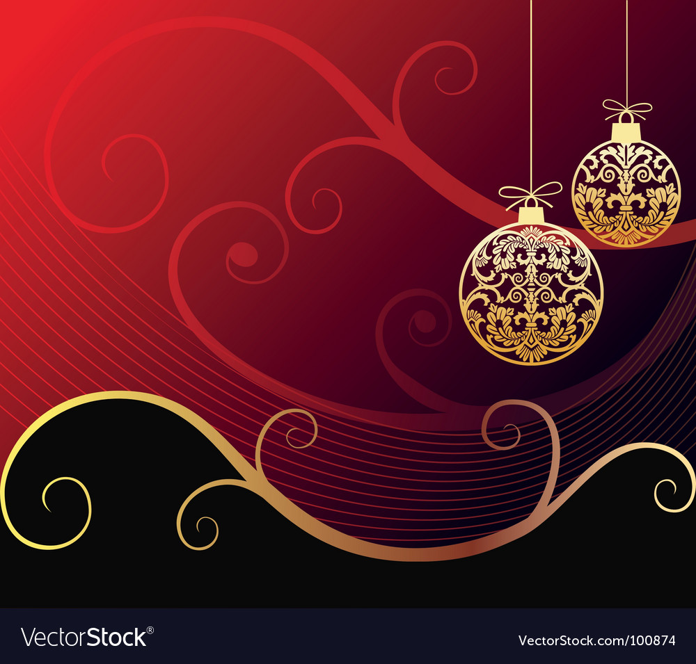 Baroque christmas Royalty Free Vector Image - VectorStock